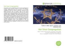 Bookcover of Har Sinai Congregation