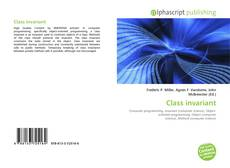 Bookcover of Class invariant