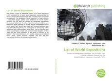 Bookcover of List of World Expositions