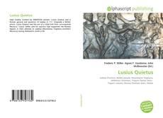 Bookcover of Lusius Quietus