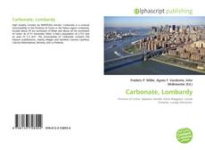 Bookcover of Carbonate, Lombardy