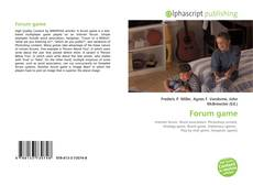 Bookcover of Forum game