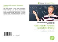 Bookcover of Characteristic Function (probability theory)