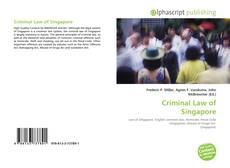 Bookcover of Criminal Law of Singapore