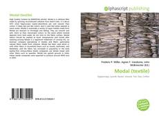 Bookcover of Modal (textile)