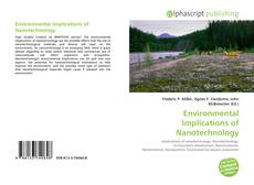 Buchcover von Environmental Implications of Nanotechnology