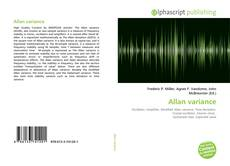 Bookcover of Allan variance