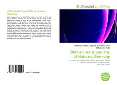 Bookcover of 2005–06 A1 Grand Prix of Nations, Germany