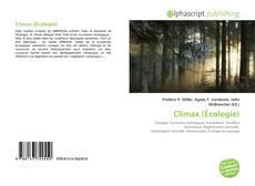 Couverture de Climax (Écologie)