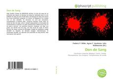 Don de Sang kitap kapağı
