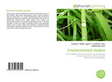 Bookcover of Environmental studies