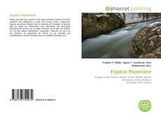 Espèce Pionnière的封面