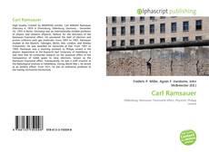 Carl Ramsauer kitap kapağı