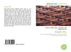 Bookcover of Coach, Inc.