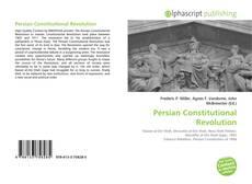 Couverture de Persian Constitutional Revolution