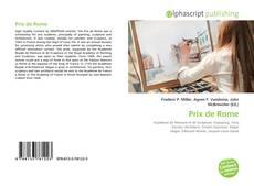 Bookcover of Prix de Rome
