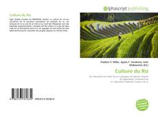 Bookcover of Culture du Riz