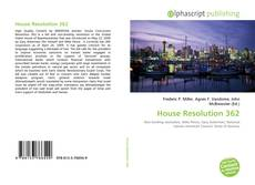 Capa do livro de House Resolution 362