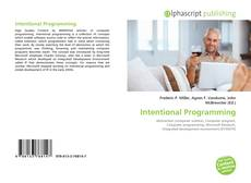 Bookcover of Intentional Programming