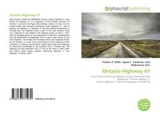 Ontario Highway 61 kitap kapağı