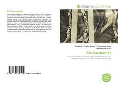 Bookcover of Ma (surname)