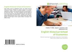 Bookcover of English Historical School of Economics