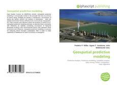 Geospatial predictive modeling的封面