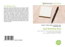 Bookcover of José Martínez Ruiz