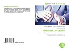 Bookcover of Alexander Gorchakov
