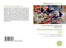 Rule According to Higher Law kitap kapağı