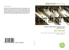 Bookcover of Ali (name)