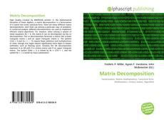 Capa do livro de Matrix Decomposition
