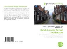 Copertina di Dutch Colonial Revival Architecture