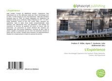 Bookcover of L'Expérience