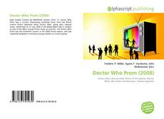 Couverture de Doctor Who Prom (2008)