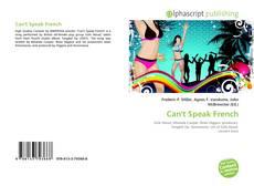 Buchcover von Can't Speak French