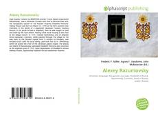 Bookcover of Alexey Razumovsky