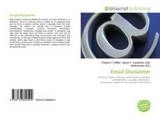 Capa do livro de Email Disclaimer