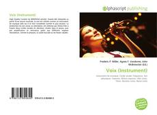 Bookcover of Voix (Instrument)