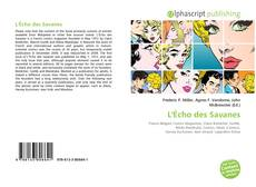 Copertina di L'Écho des Savanes