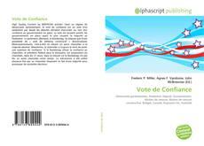 Capa do livro de Vote de Confiance