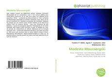 Modeste Moussorgski kitap kapağı