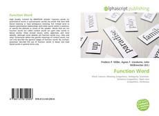 Couverture de Function Word