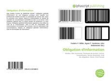 Buchcover von Obligation d'Information