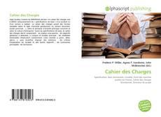 Capa do livro de Cahier des Charges
