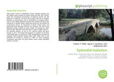 Bookcover of Splendid Isolation