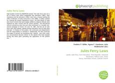 Bookcover of Jules Ferry Laws