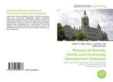 Ministry of Women, Family and Community Development (Malaysia) kitap kapağı