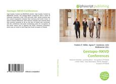 Bookcover of Gestapo–NKVD Conferences