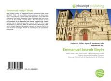 Bookcover of Emmanuel Joseph Sieyès